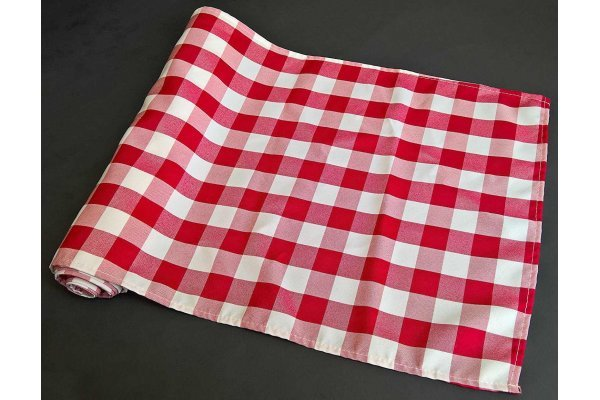 14 x 108 Polyester Checkered Runner