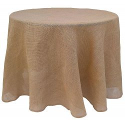 90 Round Burlap Tablecloth