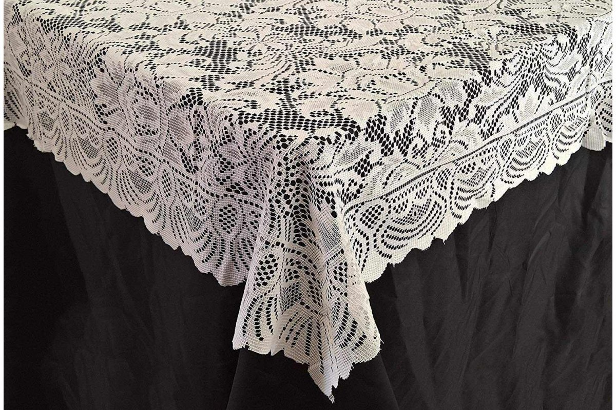 Lace Tablecloth 72 72 White 1200x800