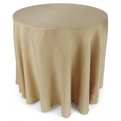 108 Round Polyester Burlap Tablecloth