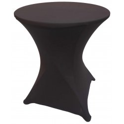 Spandex Cocktail Tablecloth Round 24 x 30 Black