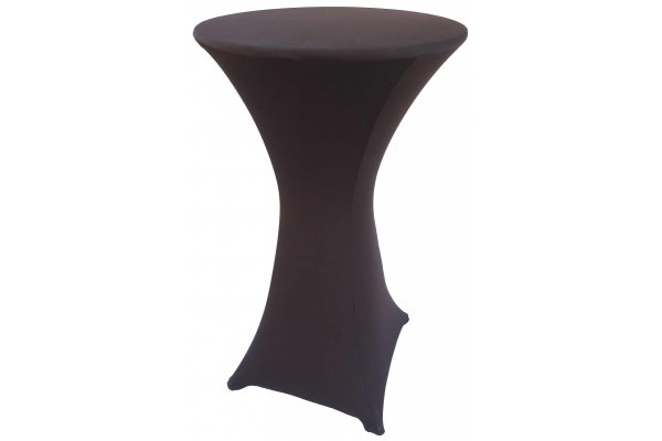 Spandex Cocktail Tablecloth Round 24 x 42 Black