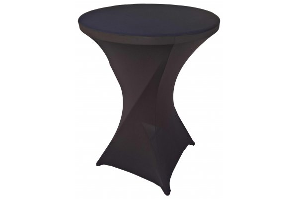 Spandex Cocktail Tablecloth Round 32 x 43 Black